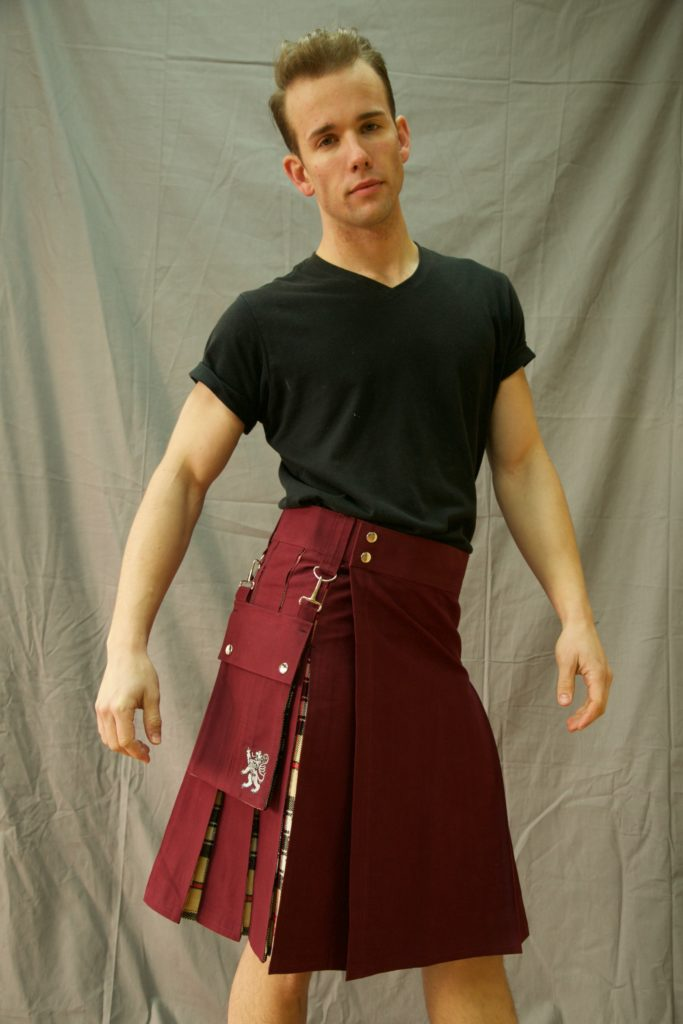 Deluxe Hybrid Kilt Tartan Box Pleated right