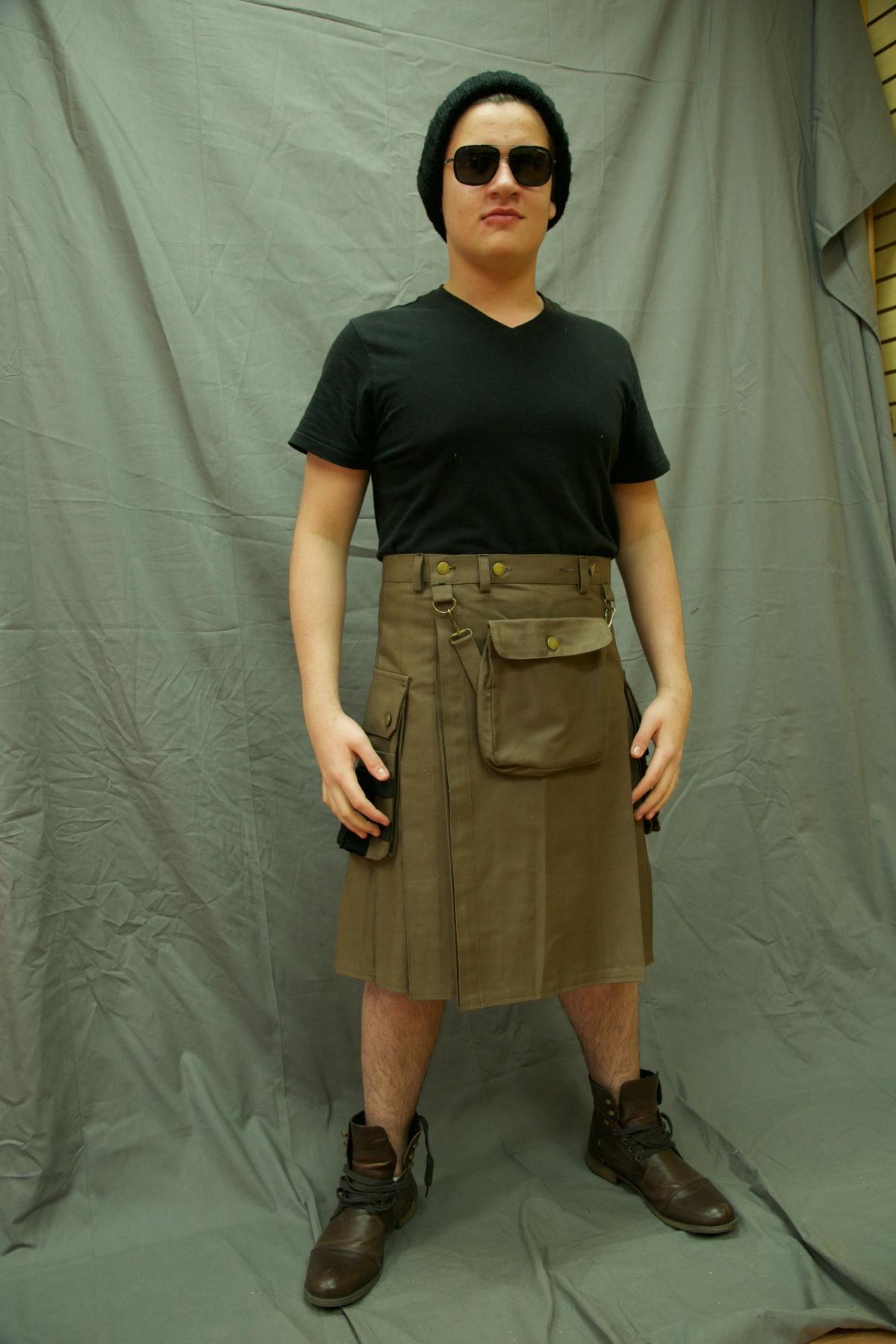 Fashion Utility Kilt-tini-man-front-side