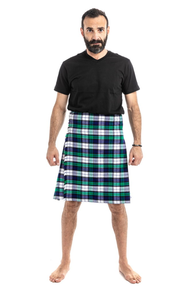 GRAHAM DRESS TARTAN KILT-front