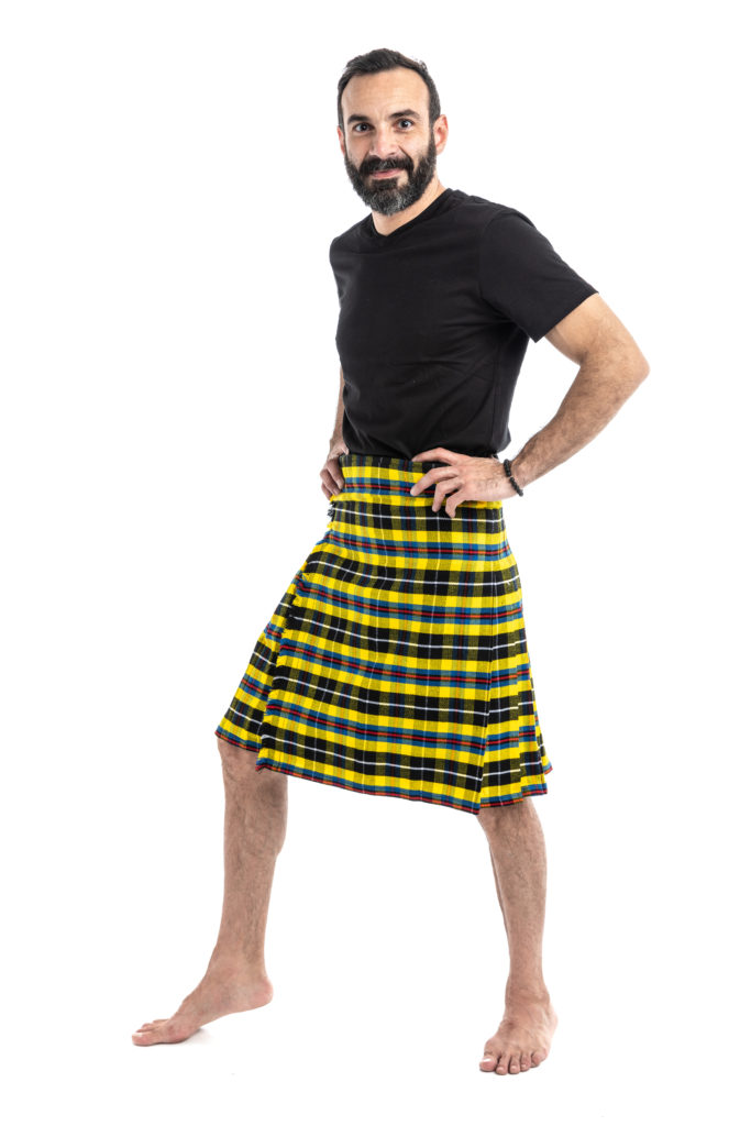 CORNISH TARTAN KILT-left