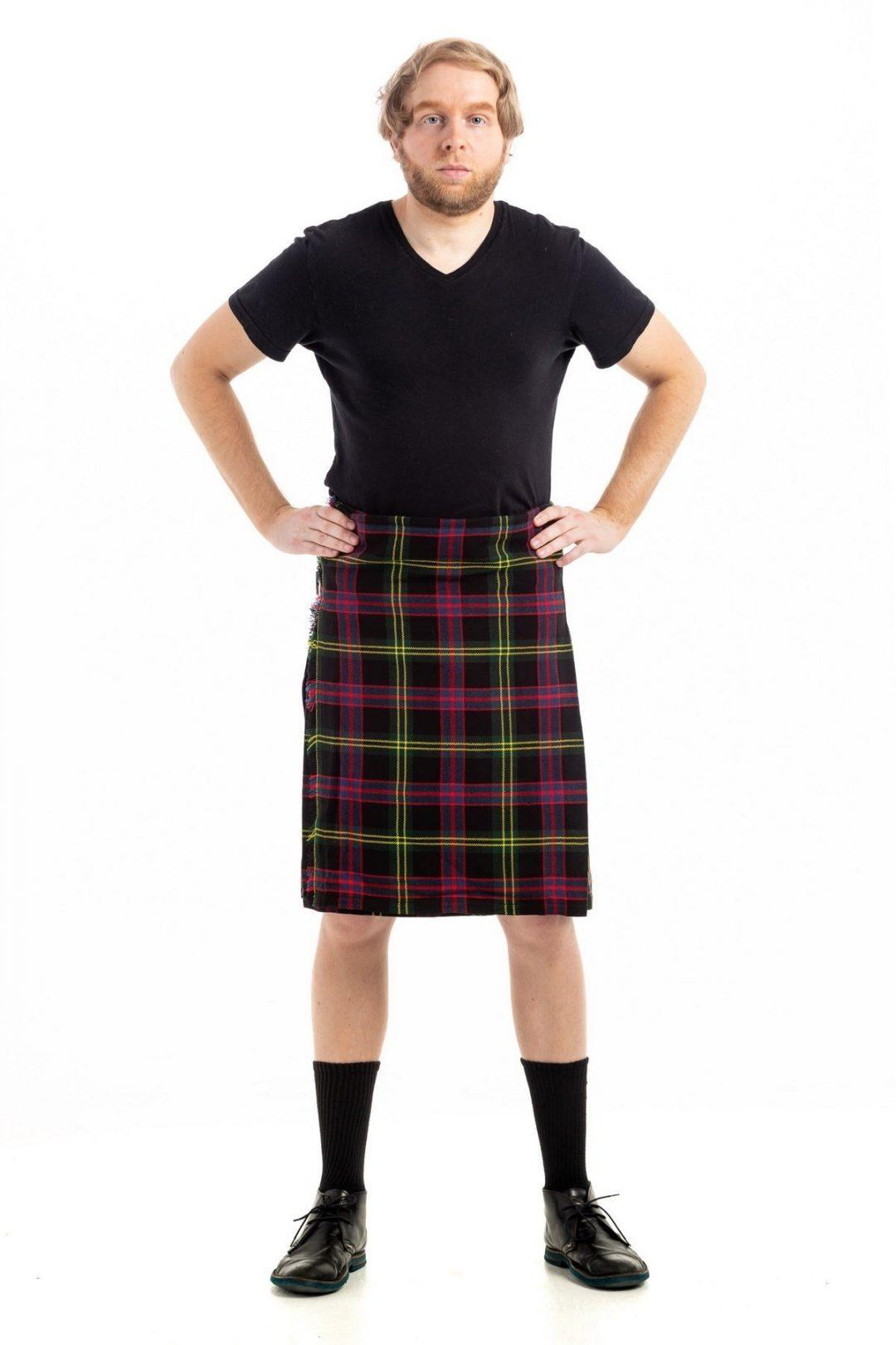 Decent Black Tartan Kilt