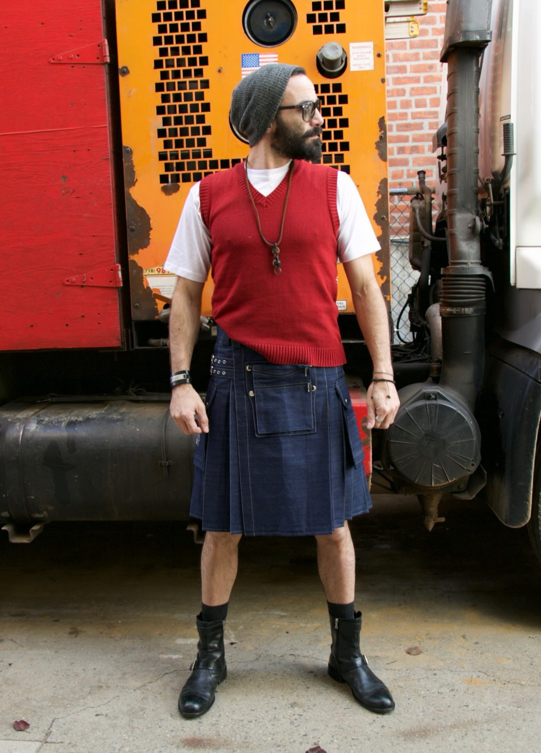 Modern Denim Kilt for Rough & Tough Men