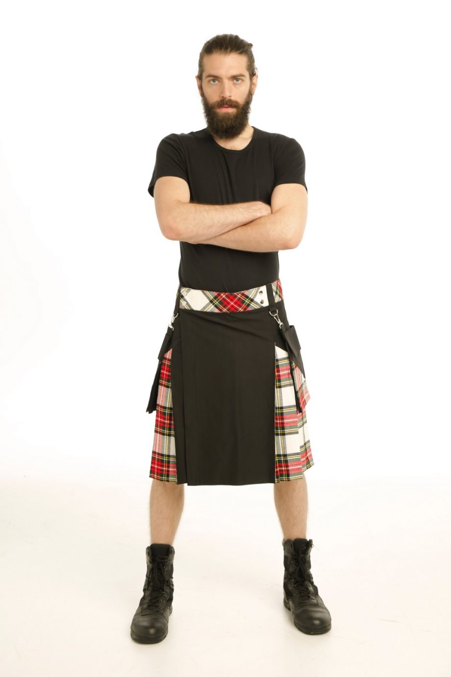 Classic Style Stewart Tartan Hybrid Kilt