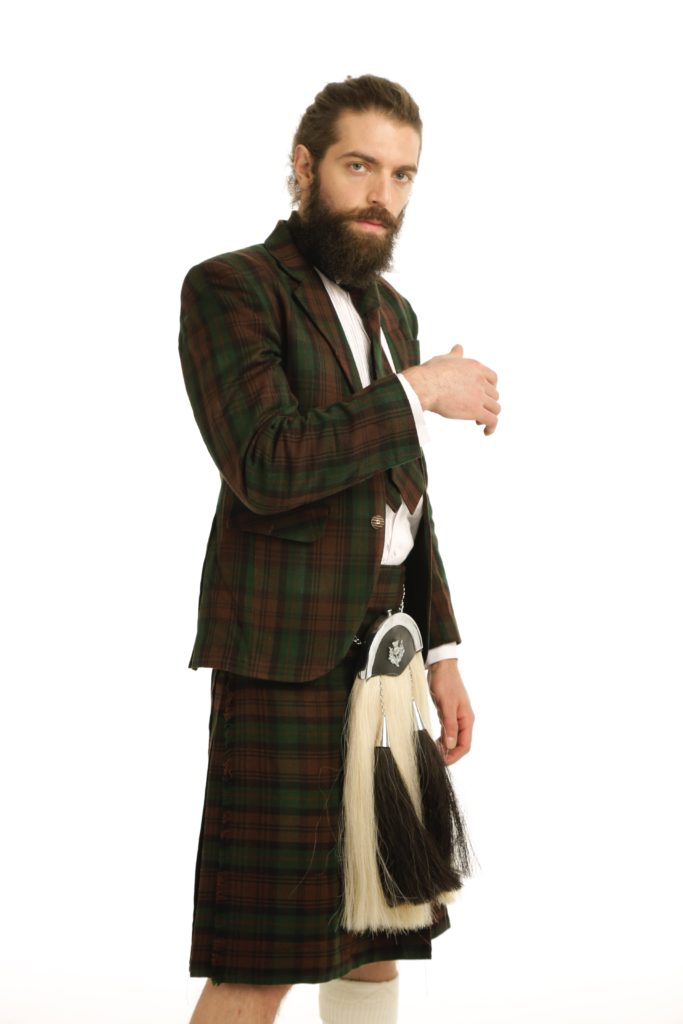 Deluxe Argyle Tartan Jacket and Kilt Outfit Right