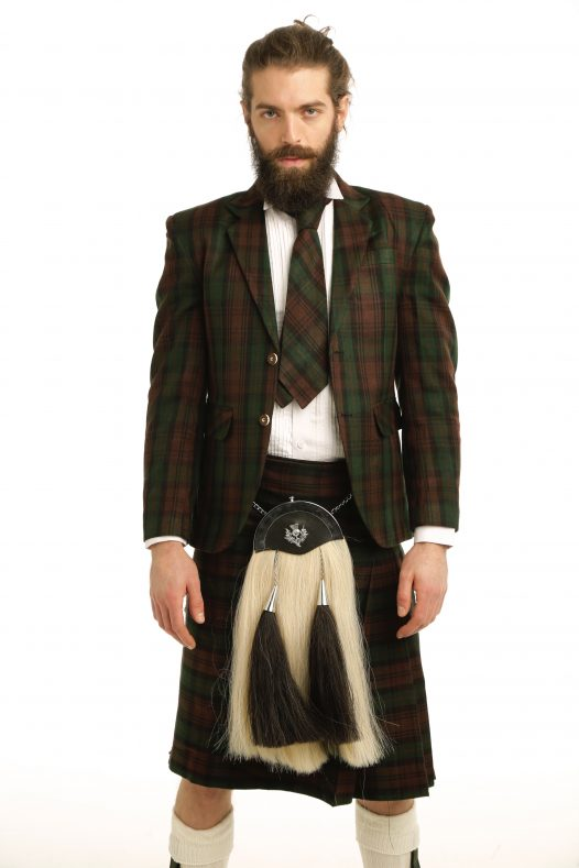 Men's Tartan Suit Jacket & Kilt