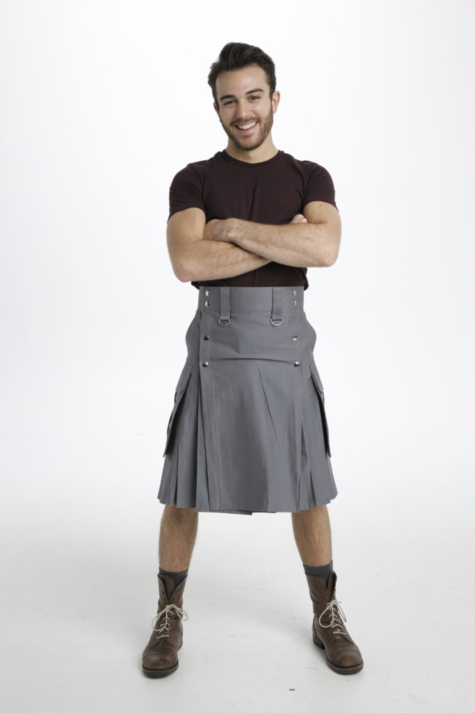 Slash Pocket Kilt for Elegant Men-front