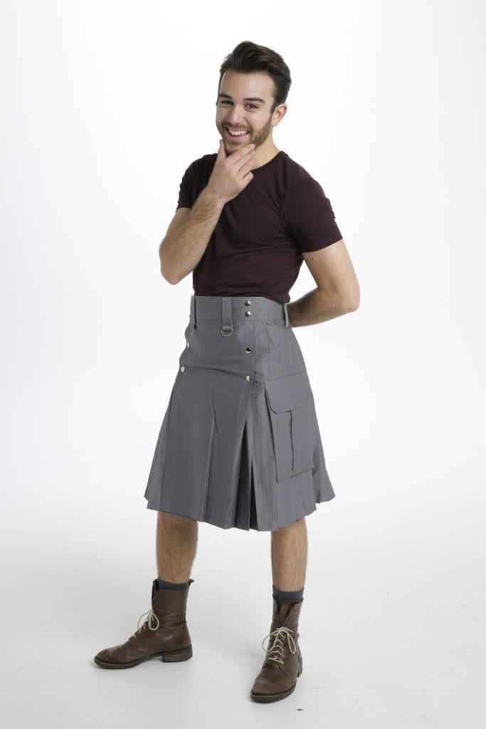 Slash Pocket Kilt for Elegant Men-left