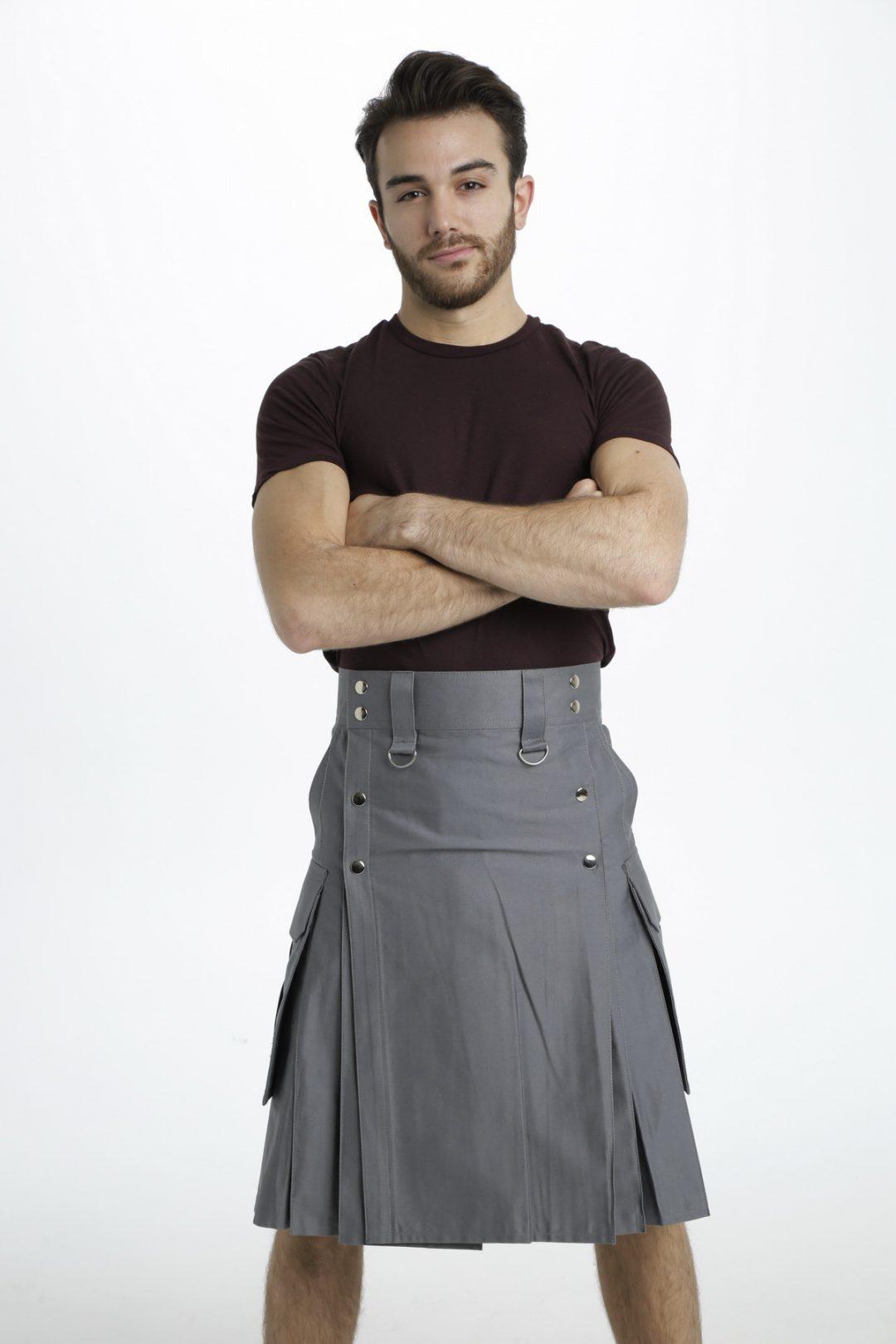 Slash Pocket Kilt for Elegant Men