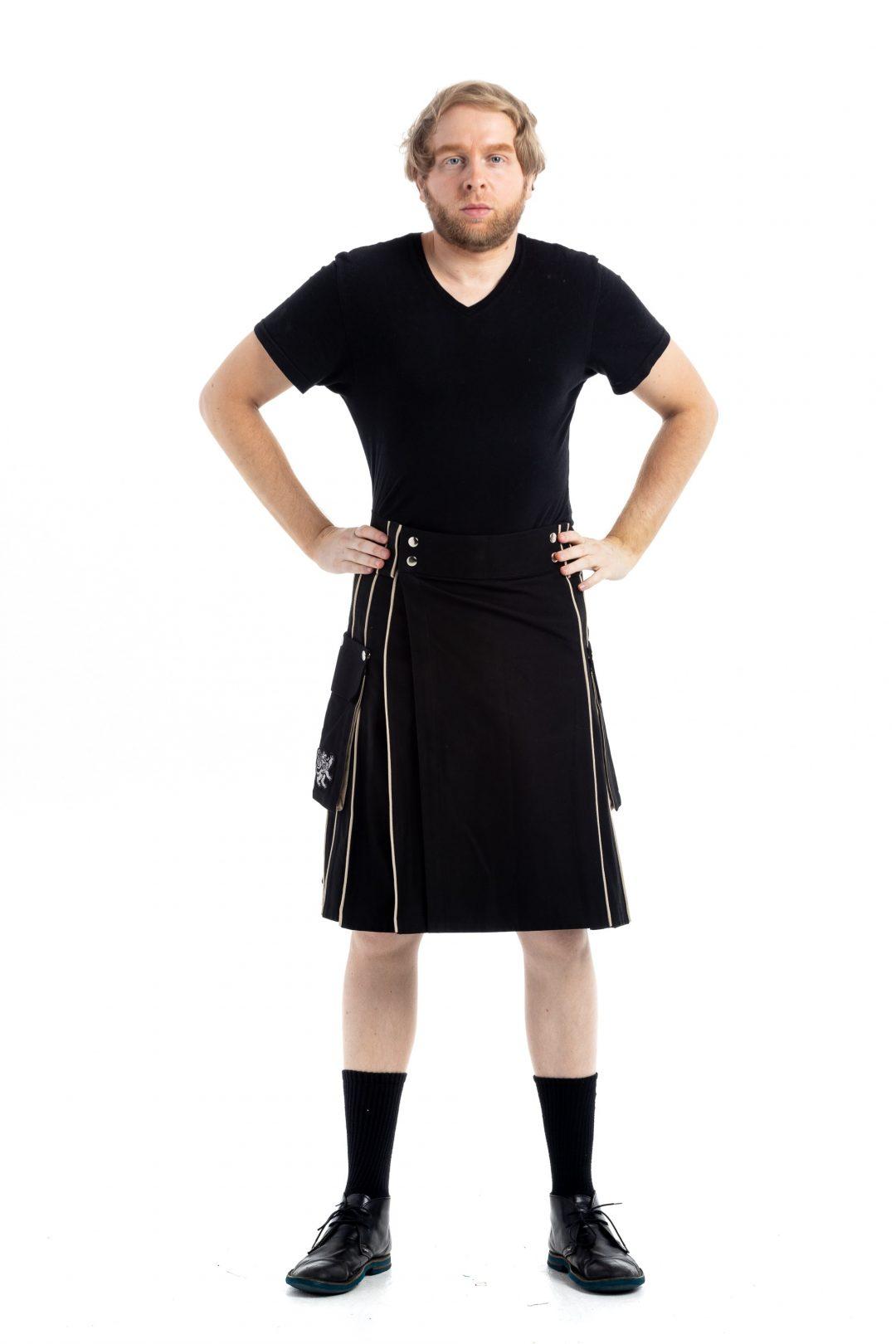 Detachable Pockets Kilt For Running Man