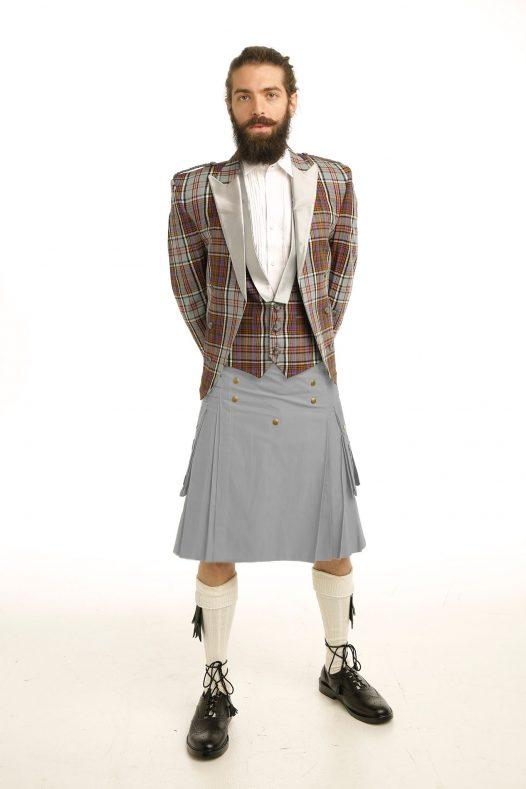 Prince Charlie Tartan Jacket & Utility Kilt OutFit