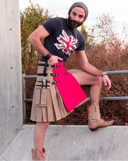 Fashion Kilt With Multi Color Apron