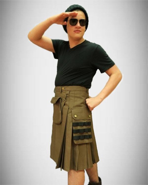 Fashion Utility Kilt front pocket