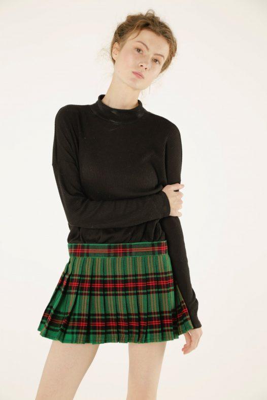 Tartan Plaid Mini Skirt