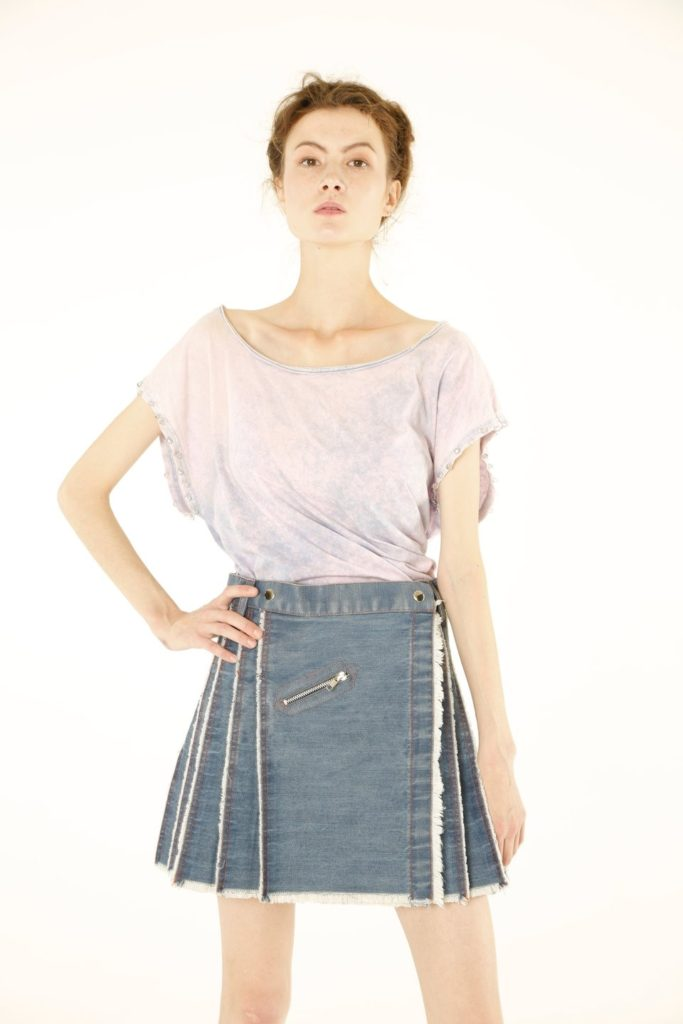 Women's Denim Kilt front