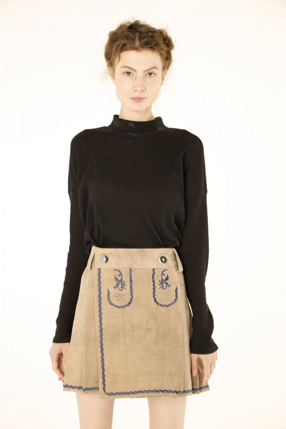 Women Bavarian Leather Kilt