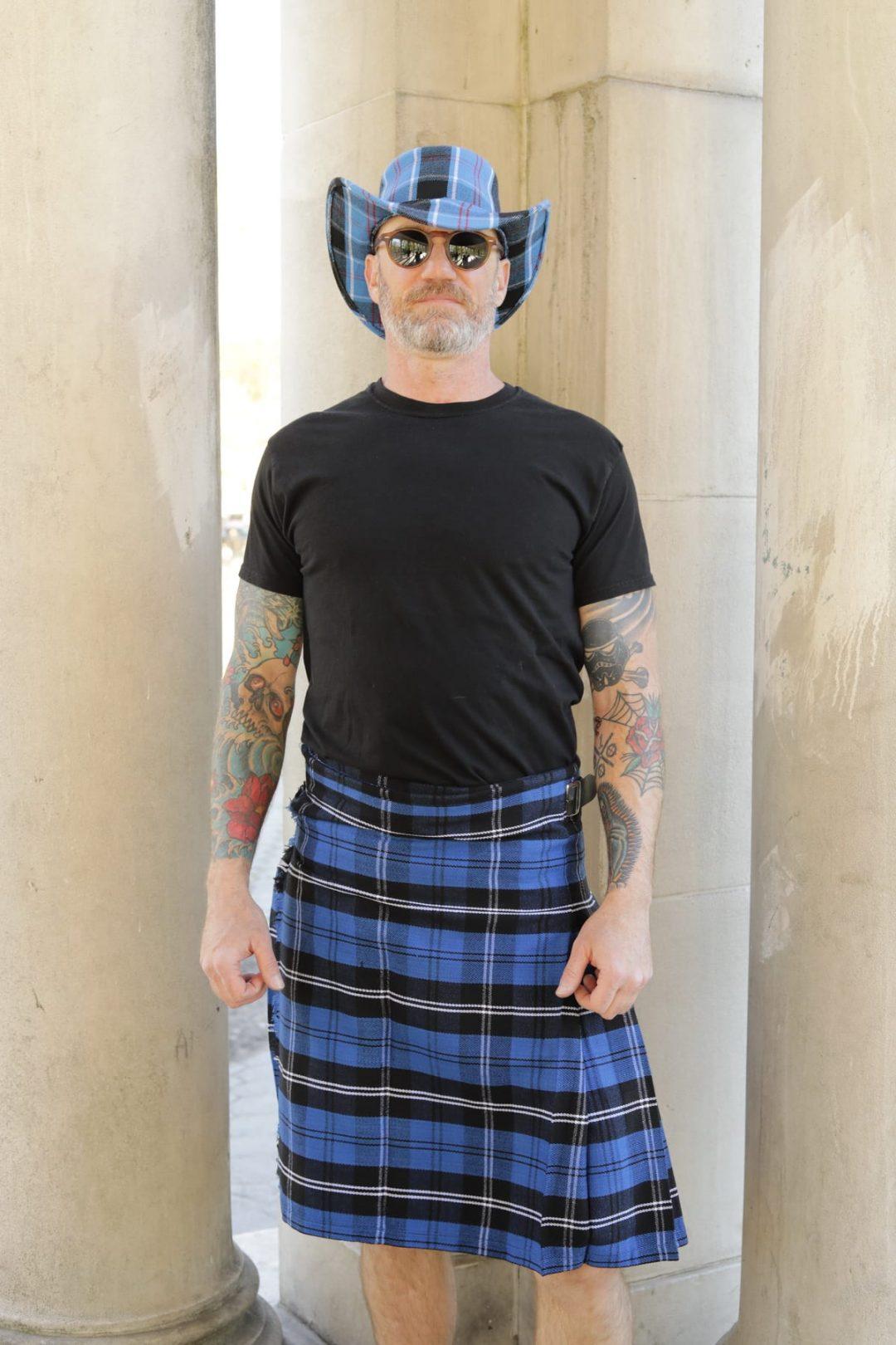 Blue Ramsay Tartan Kilt