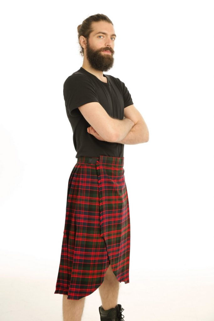 RED TARTAN KILT-left