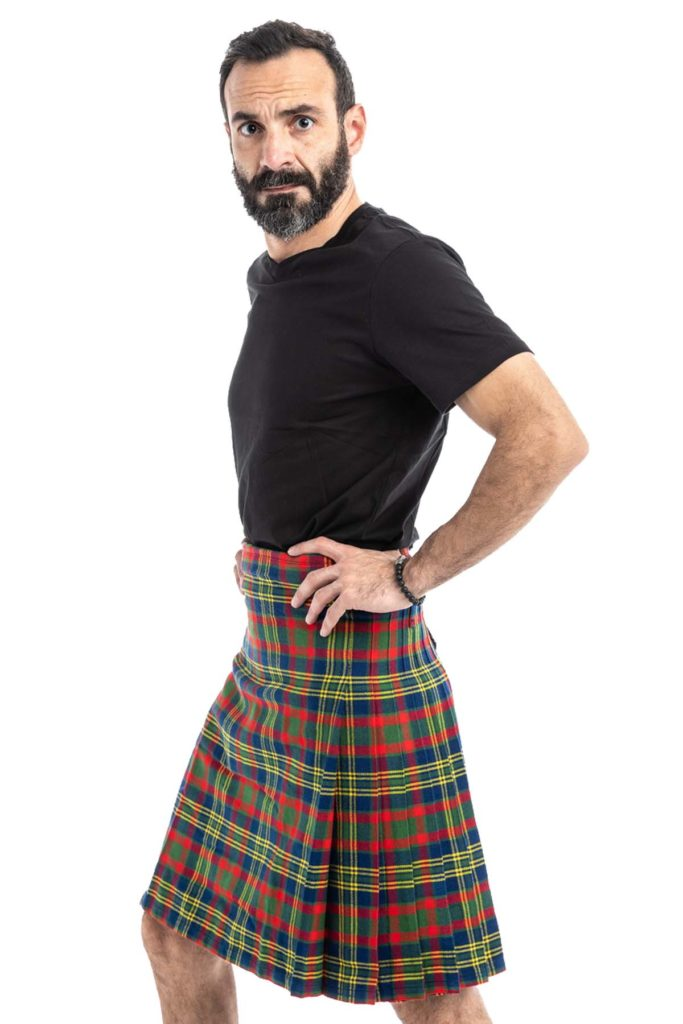 County Cork Tartan Kilt side View