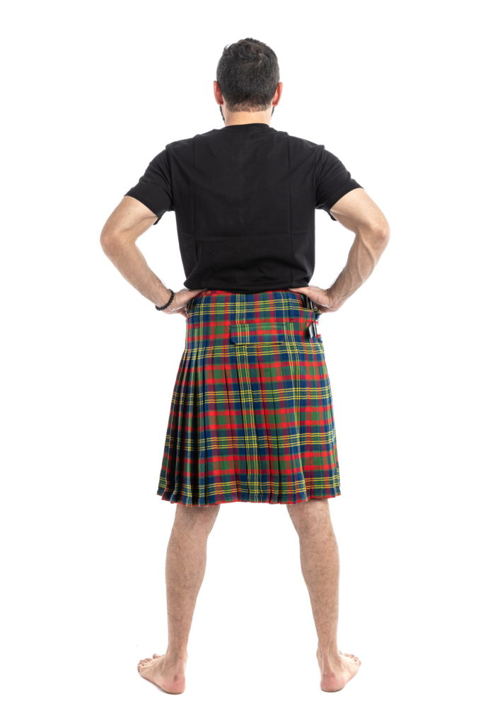 County Cork Tartan Kilt Back View