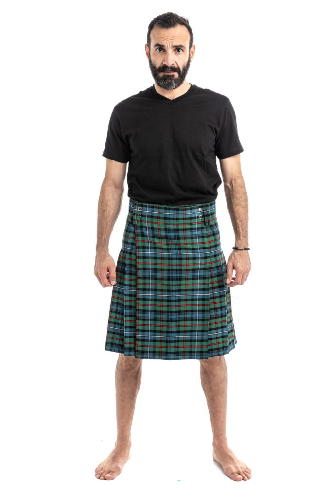 ANCIENT HUNTER TARTAN KILT front side