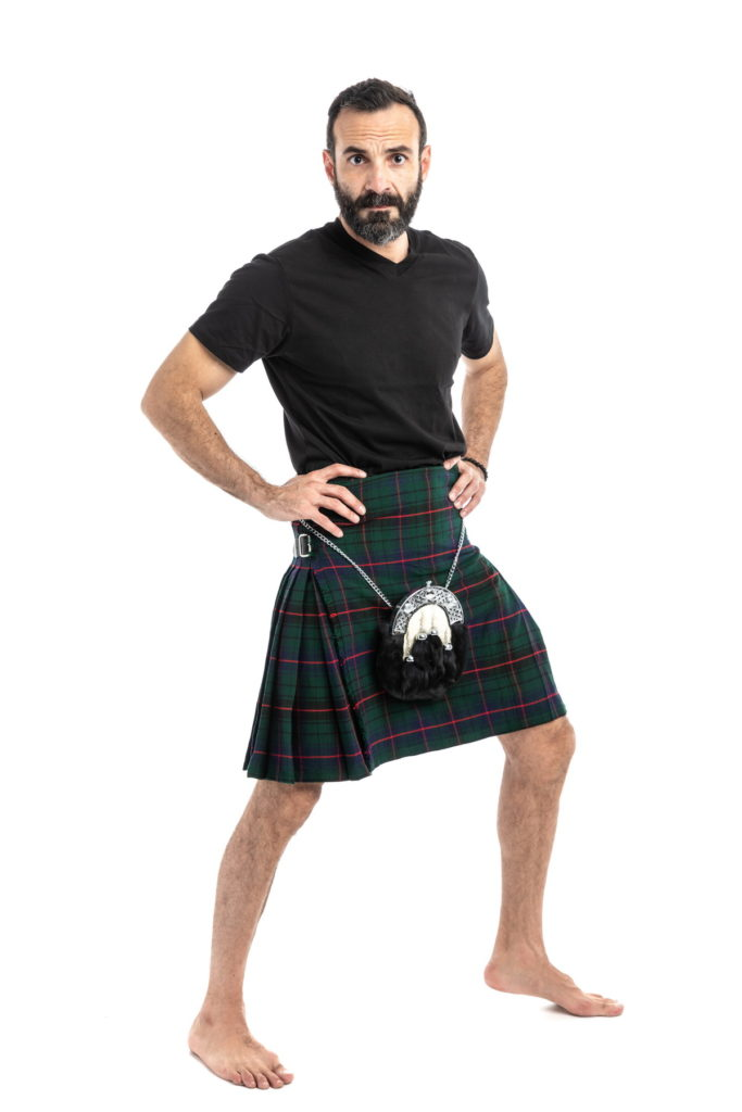 davidson tartan kilt-right