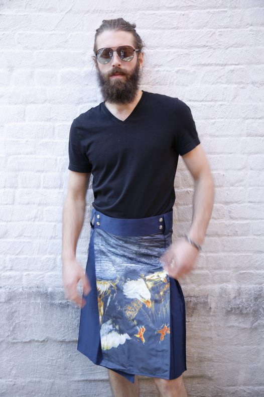 Printed Kilt for Fashionable Men