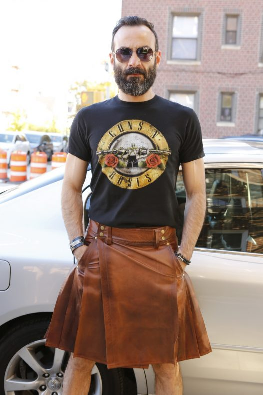 Mens Cowhide Brown Leather Kilt