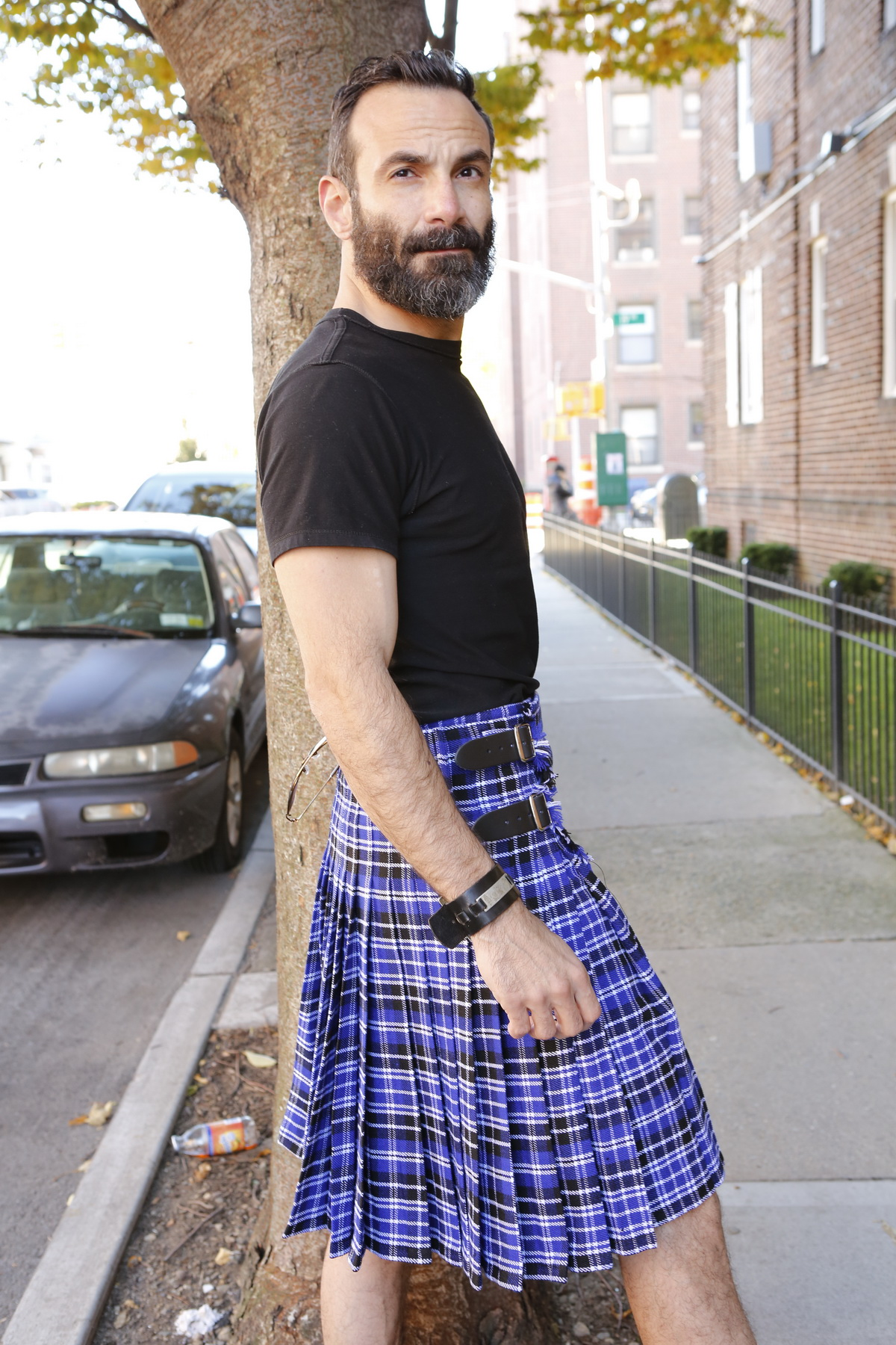 Clark Tartan Kilt right side