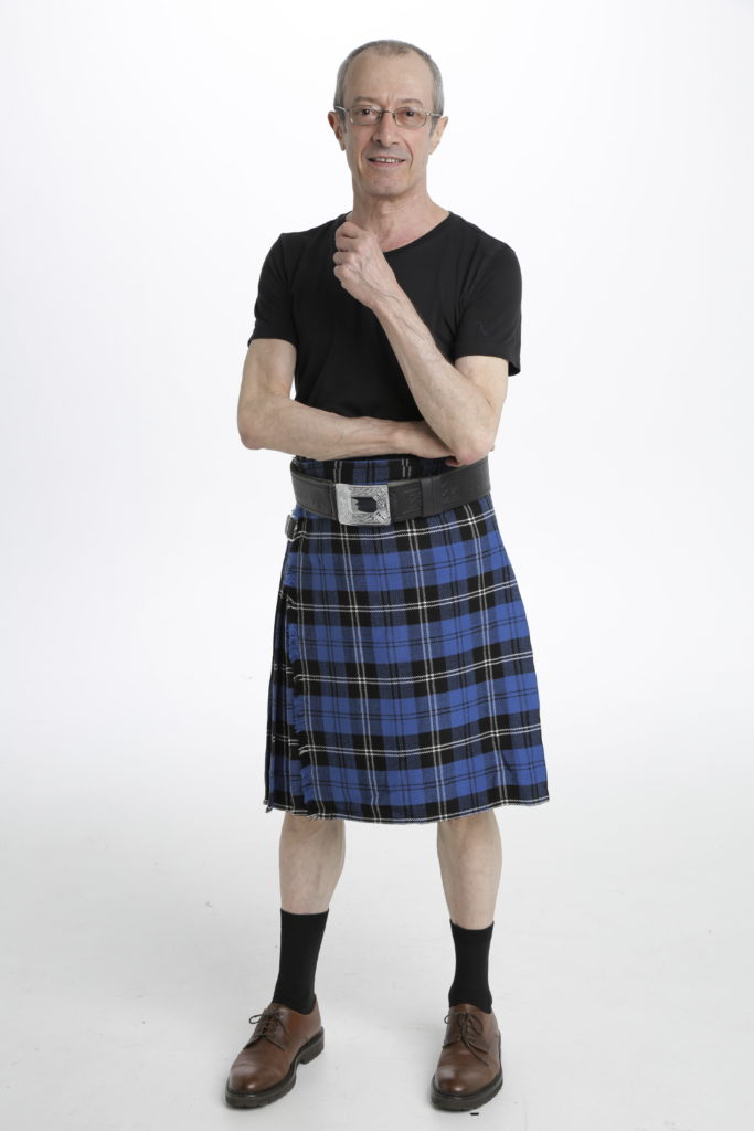 Blue Ramsay Tartan Kilt-front
