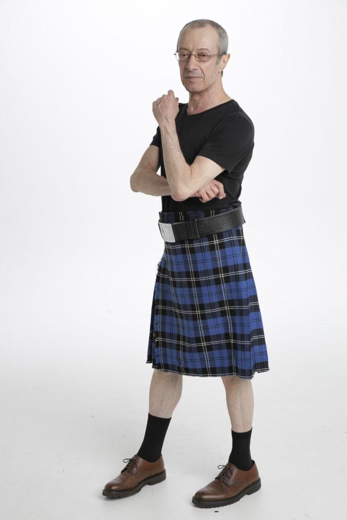 Blue Ramsay Tartan Kilt-right