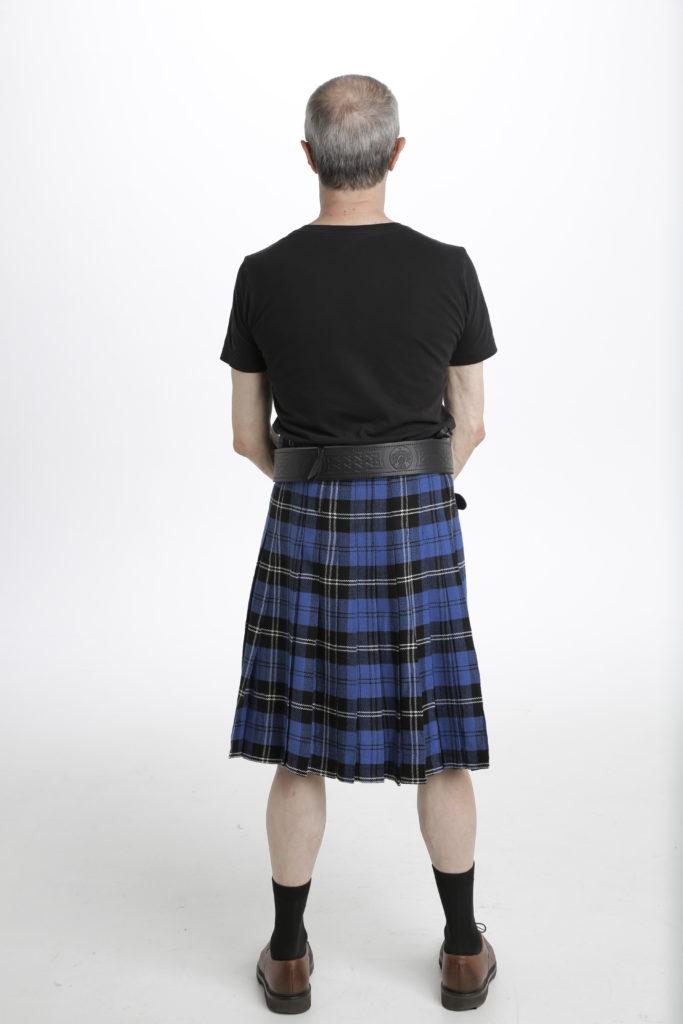 Blue Ramsay Tartan Kilt-back