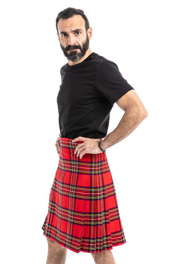 Royal Stewart Tartan Kilt left pose