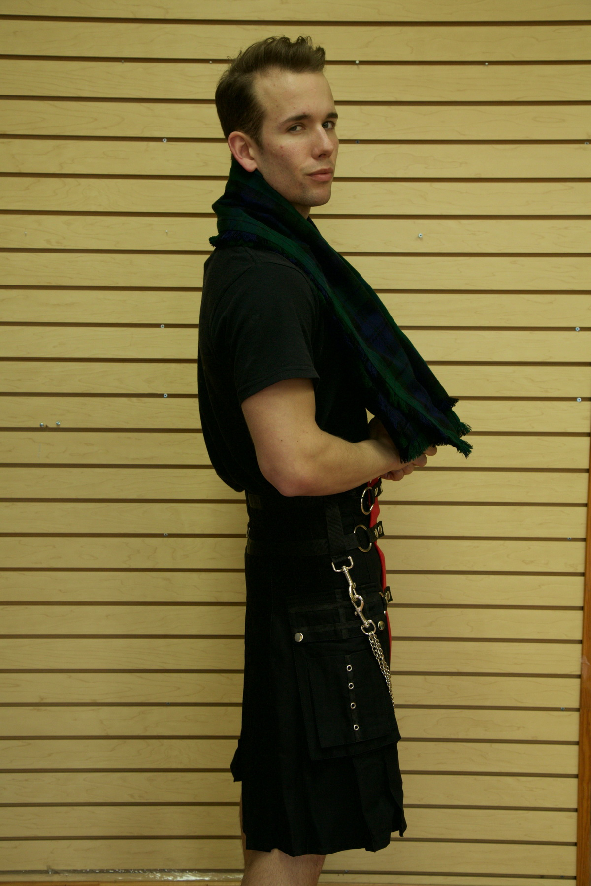 Fashion Kilt with Multi Color Apron & Pockets right