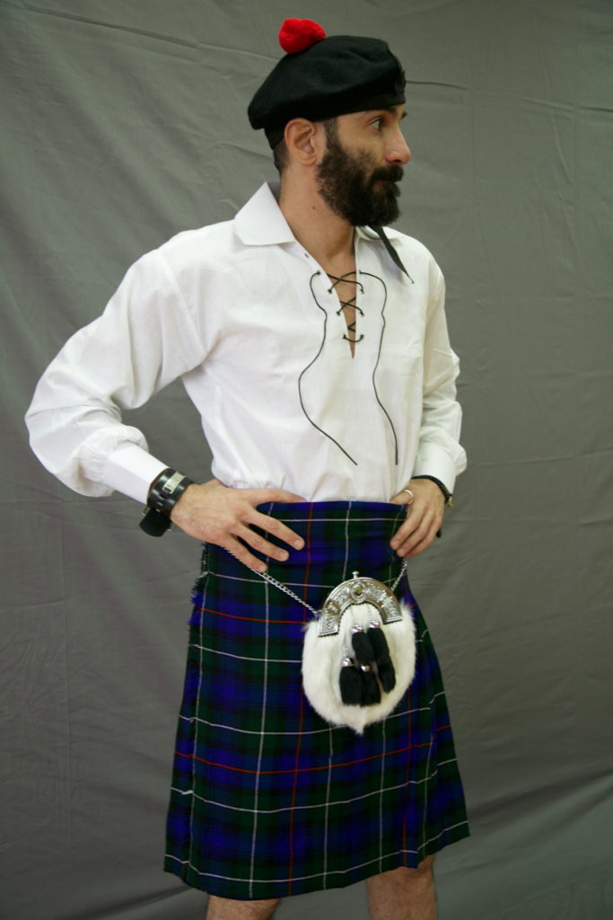 Cumbernauld District Tartan Kilt front size