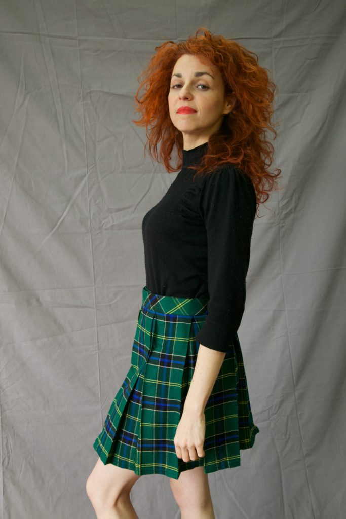 Box Pleated Kilt for Fabulous Woman left