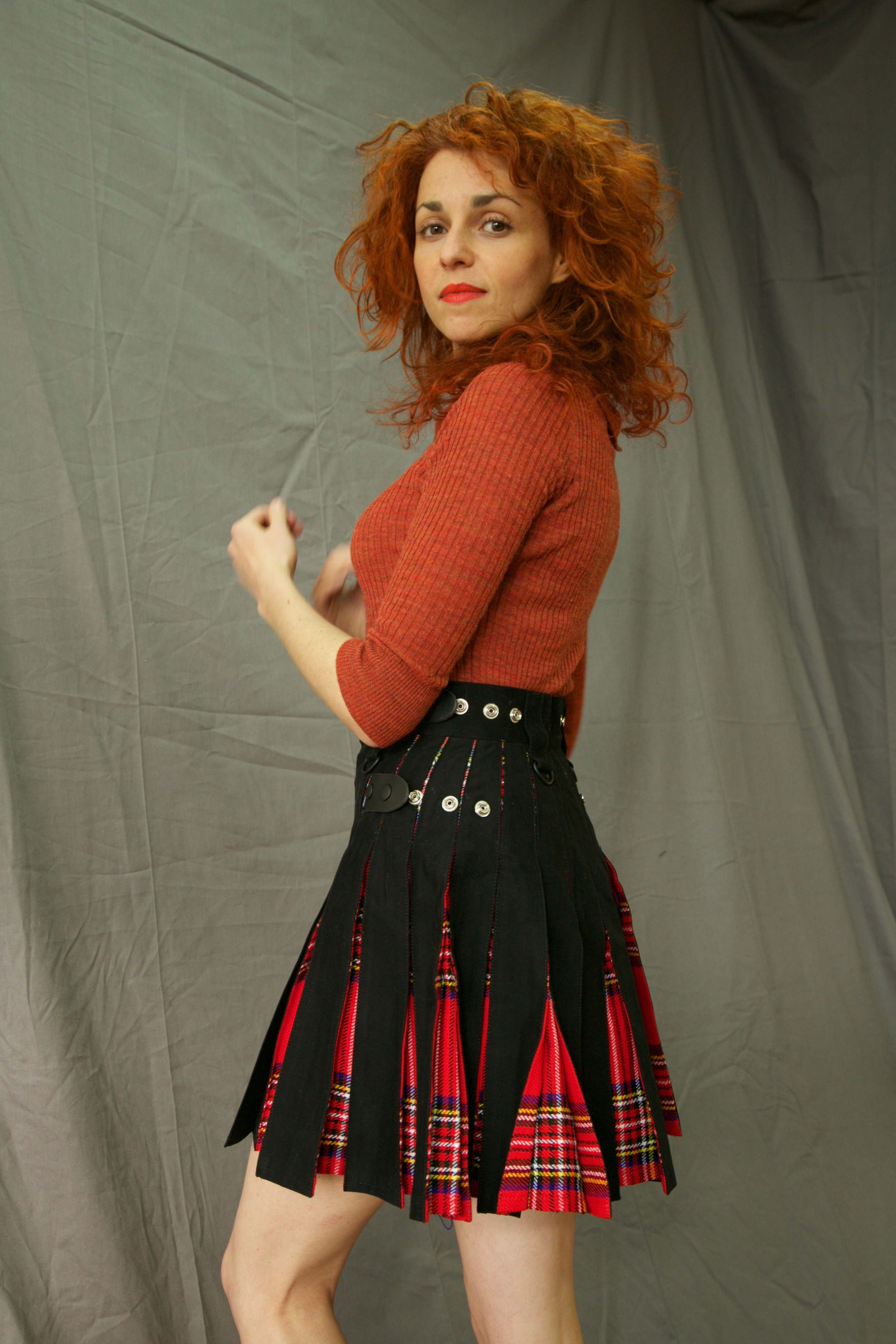 DOUBLE DESIRE HYBRID KILT - TARTAN BOX PLEATED LEFT