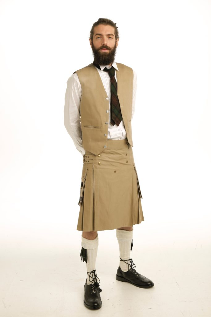 Casual Prince Charlie Kilts Outfit waistcoat front