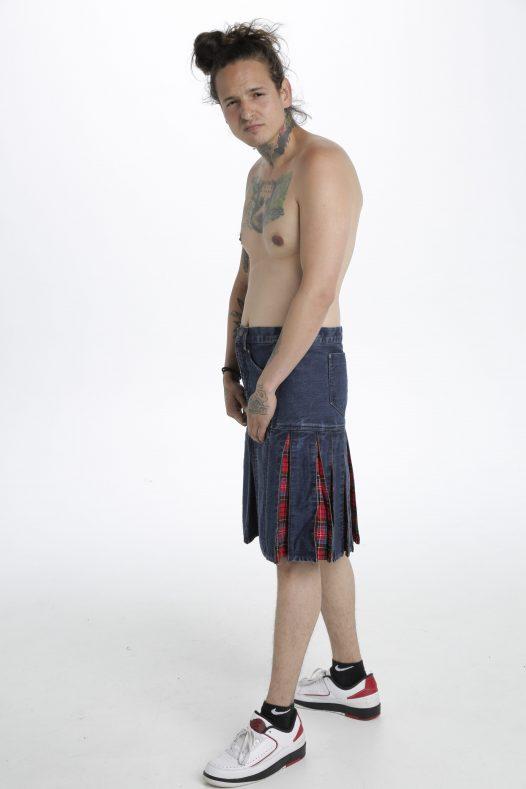 Denim Tartan Hybrid Pant Kilt