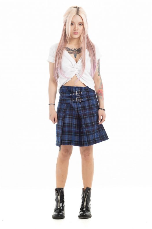 Modern Tartan Plaid Skirt