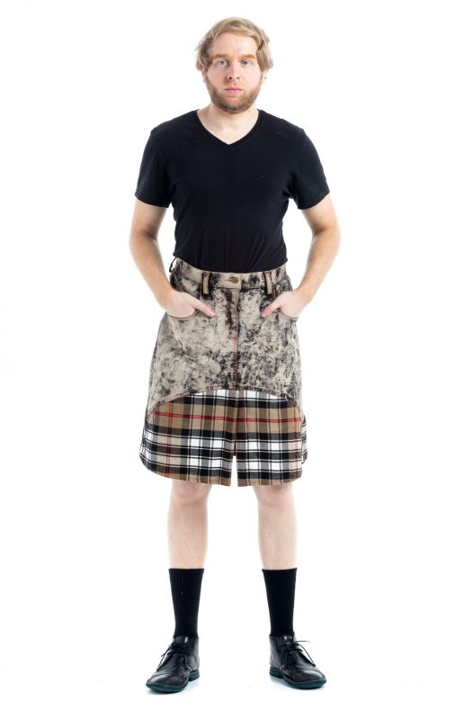 Stylish Denim Tartan Kilt