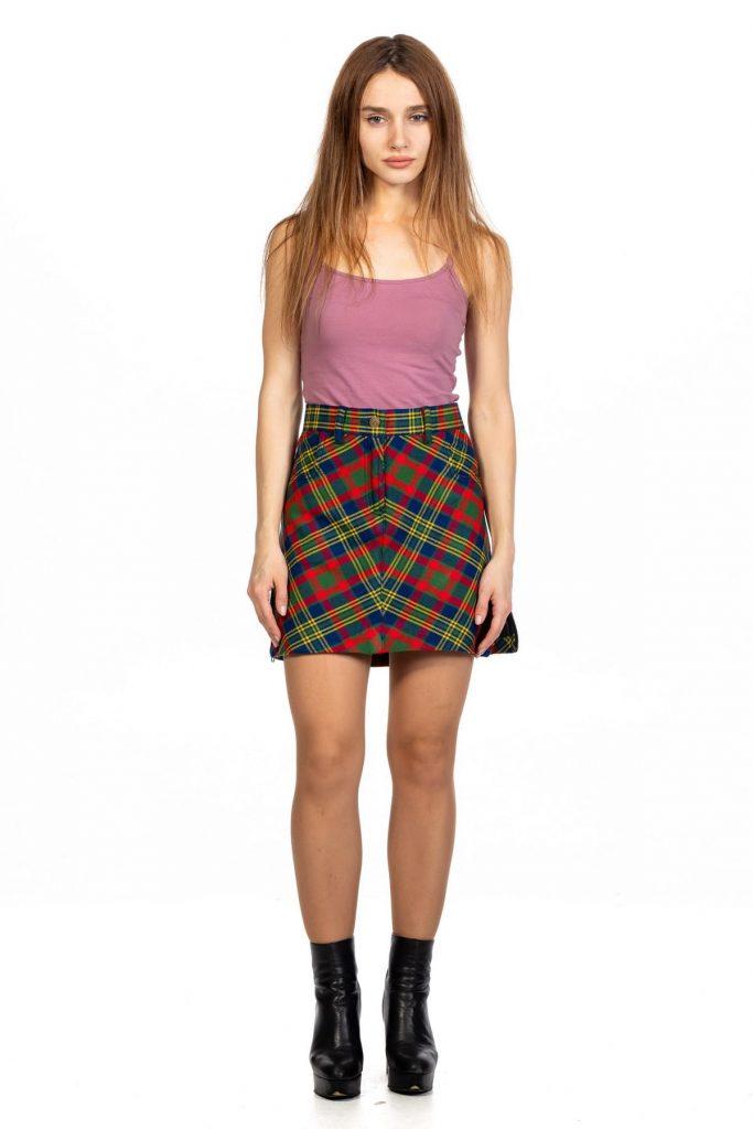 Perkiest Tartan Mini Skirt
