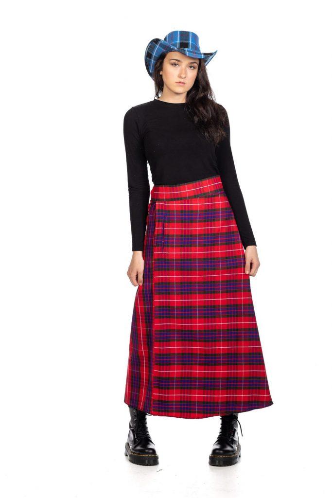 Tartan Maxi Long Skirt
