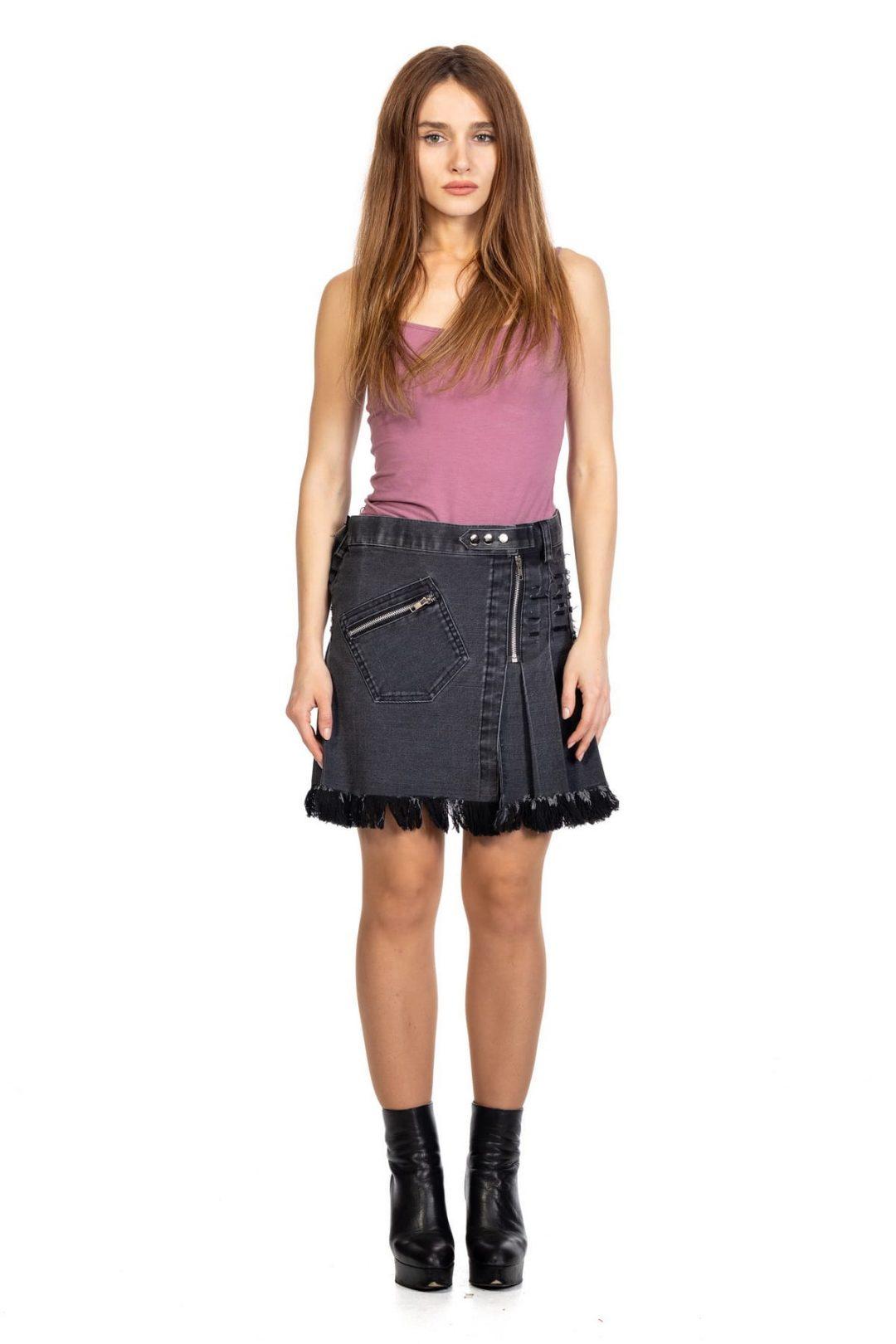 Mini Denim Skirt For Women