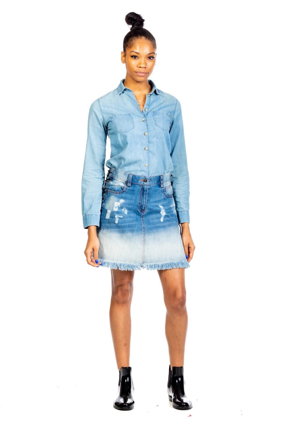 Mini Blue Denim Kilt