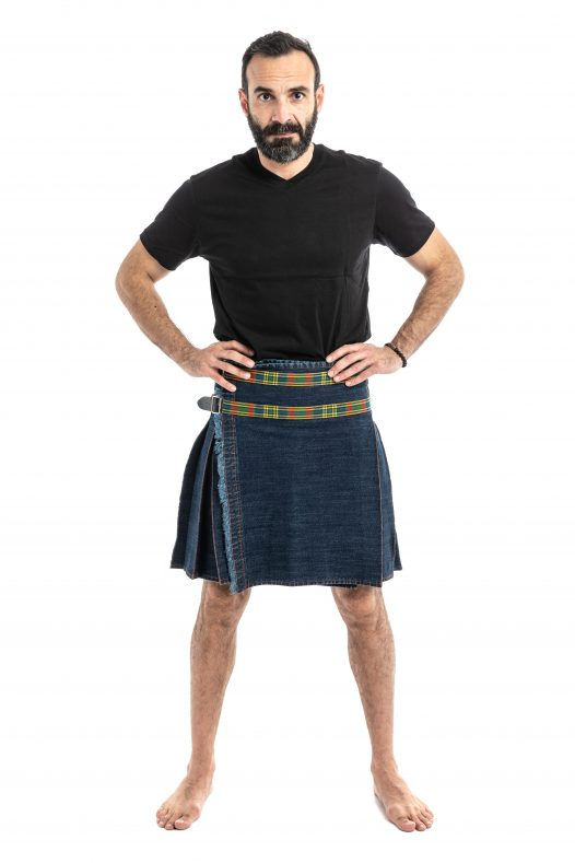 Washed Denim Hybrid Kilt