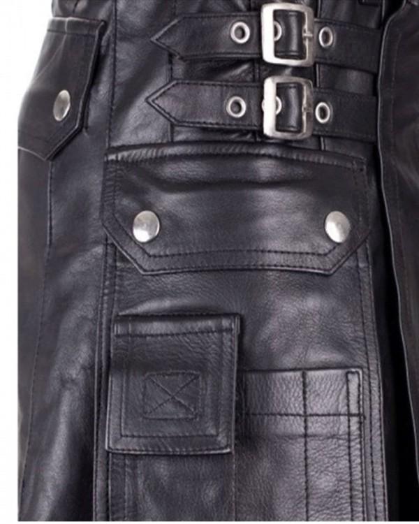black leather_kilt_pocket_view