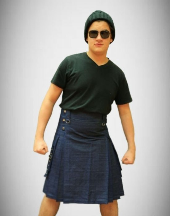 Fashion denim kilt