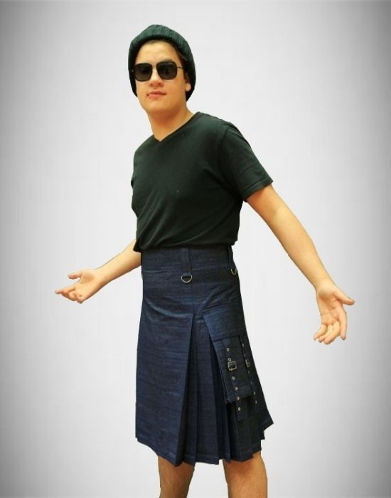denim_kilt_for_men